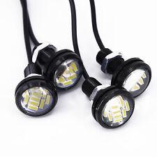 Coche 4x Blanco 12v 15w eagle eye DRL luz de copia de seguridad de circulación diurna LED Lámparas Kit