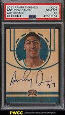 2012 Panini Threads Anthony Davis ROOKIE RC AUTO #201 PSA 10 GEM MINT (PWCC)