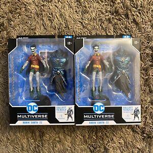 2 McFarlane DC Multiverse DarkKnights METAL Crow Robin Earth22 Batman Who Laughs