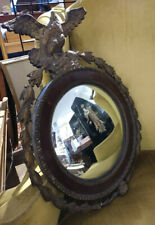 Old & Original Convex Mirror Glass Only From Early Gesso Eagle Mirror