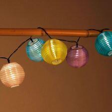 Solar-Lampion-Lichterkette 10 LED Iluminación Fiesta Luces de Decoración Jardín