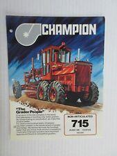 Champion 715 Motor Grader Color Literature