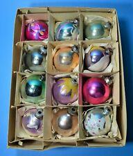 CHRISTMAS MERCURY GLASS GERMAN WESTLING VINTAGE TREE ORNAMENTS SPHERICAL CB24
