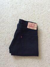 Mens Levis 501 XX straight leg black denim jeans mid rise W 32 L 30