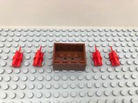 Lego 1 x Crate With 4 x Dynamite Sticks (64728 30150) TNT Weapon Bomb