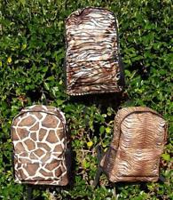 WOMEN'S BACKPACK ANIMAL PRINT DESIGN Tiger Giraffe Antelope Padded Back/Straps