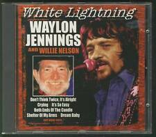 WAYLON JENNINGS & WILLIE NELSON White Lightning CD freepost worldwide