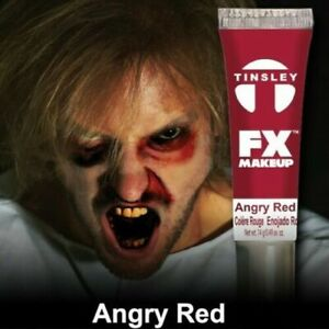 Tinsley Transfers FX Halloween Water Based Cream Face Makeup Body Paint, Scarlet