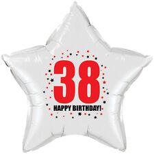 38TH BIRTHDAY STAR BALLOON 18 INCH MYLAR BIRTHDAY PARTY SUPPLIES
