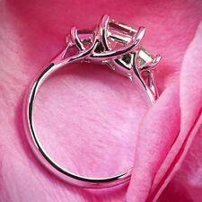 Three Stone 1.31 Carat Certified Princess Diamond Engagement Ring White Gold