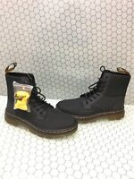 Dr. Martens COMBS Gray Canvas 8-Eye Lace Up Ankle Boots Men's Size 8  Women's 9
