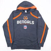 Vintage REEBOK NFL Cincinnati Bengals Grey Sports Pullover Hoodie Mens L