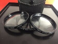 VTG  KALT 55mm 3 PC Camera LENS CLOSE UP DIOPTER FILTERS in Case +1,2,4 Photo