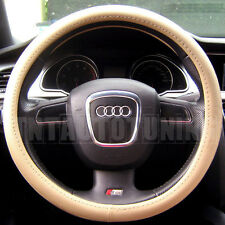 BEIGE PVC LEATHER Steering Wheel Cover Mercedes CLK CL CLS SL SLK SLR CLC Class