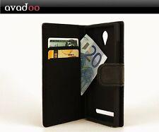 avadoo® Archos 45c Platinum Flip Case Schutzhülle Tasche Schwarz