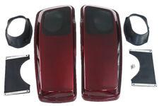 Saddlebag 6*9 Speaker Lids for Harley hard bags 2014-2017 Velocity red sunglo co