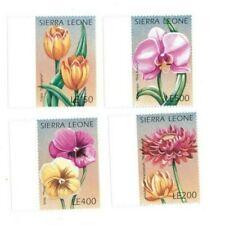 VINTAGE CLASSICS - Sierra Leone Flowers - Set Of 4 - MNH