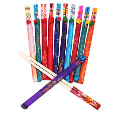 10 Pairs Assorted Beautiful Design Chinese Natural Wooden Chopsticks US Seller
