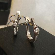 14K 585 White gold 0.119 diamond earrings 2.53 gr english lock  Russian NEW
