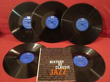 RIVERSIDE SDP11 HISTORY OF CLASSIC JAZZ 5 ALBUM BOX SET WITH BOOK VG++