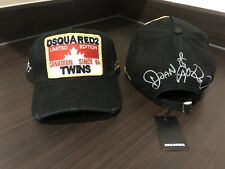 DSQUARED2 DSQ2 Limited Edition Black Canadian Twins Baseball Cap 2019 Brand New