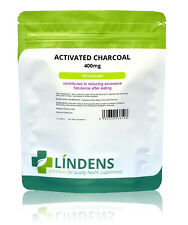 Lindens Activated Charcoal 400mg Reduces build up of gas 120 Capsules