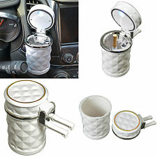 New LED Automotive Cup Holder White Ashtray Coin Holder Cigarette Auto Car Truck