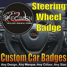 Vauxhall VXR8 Steering Wheel Badge (black/chrome/red) HSV / Holden / VXR8