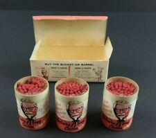 Vtg 1954 Kentucky Fried Chicken KFC Three Bucket Wooden Matches and Original Box