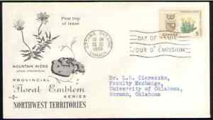 Canada. 429. 5c. Mountain Avens & Arms of Northwest Territories. FDC. 1966