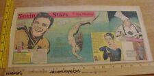Ann Blyth Angela Lansbury Seein' Stars Feg Murray 1940s Sunday color panel 2c
