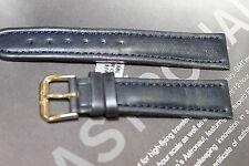 Banda Swiss 18mm sports watch band genuine leather Navy Padded fits Tissot