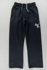 Under Armour COLD GEAR Loose Fit Running Training Pants (Youth Medium) Black