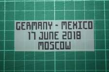 GERMANY World Cup 2018 Home Shirt Match Details GERMANY Vs MEXICO