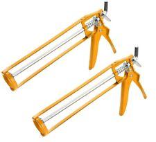 2x Skeleton Silicone Sealant Gun Mastic Caulk Applicator 310ml C2 C3 Tubes