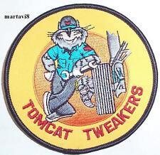 US.Navy F-14 Tomcat `TOMCAT TWEAKERS` Cloth Badge / Patch (F14-31)
