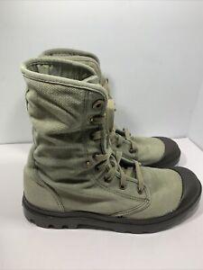 Palladium Pampa Hi Chukka Men's Green Hiking Boots Size 9.5