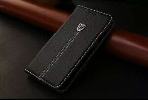 """Wallet Flip Leather Book Case Cover for Apple iPhone 6 / 6s Plus 5.5"""" - Black"""