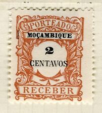 PORTUGUESE MOZAMBIQUE; 1904 early Postage Due Mint hinged 2c. value