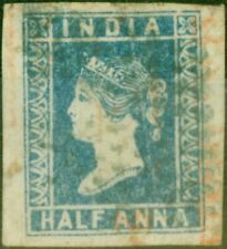 India 1854 1/2a Pale Blue SG3 Good Used