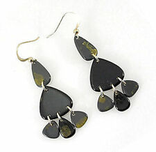 JEWELLERY BLACK GOLD CHANDELIER EARRINGS