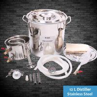 Distiller 12L Liter Stainless Steel Still Home Brew Alcohol Water Cooler