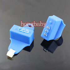 1pair New Bike Bicycle Blue Silicone 3 LED Frog front or rear Light 7 Modes Lamp