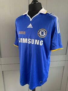 RETRO ADIDAS CHELSEA HOME SHIRT TERRY 26 SAMSUNG SIZE L MOSCOW FINAL 2008