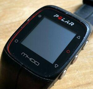 Polar M400 Mens Black Digital GPS Fitness Tracker Quartz Smart Watch Hours