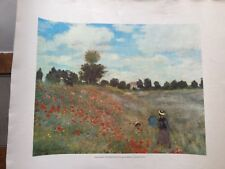 "The Corn Poppies by Claude Monet Les Coquelicots   Printed in Spain 21""/18"""