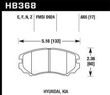 Disc Brake Pad Set-LX Front Hawk Perf HB368F.665