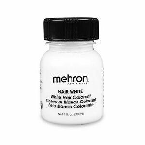 Hair White with Brush - 1oz Color for Hair Beard Moustache By Mehron