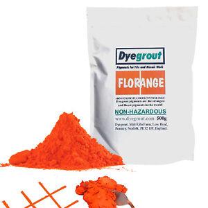 500 gram - Florange Vibrant Orange Grout Pigment for Mosaics Cement Dye Dyegrout