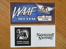 "WAAF 107.3 FM The Garden NEW YEARS EVE 1998 AEROSMITH Concert Tour 7.5"" Sticker"